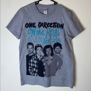 One Direction 2015 Tour Small Men's Shirt Gray